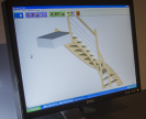 Conception 3D d'un escalier